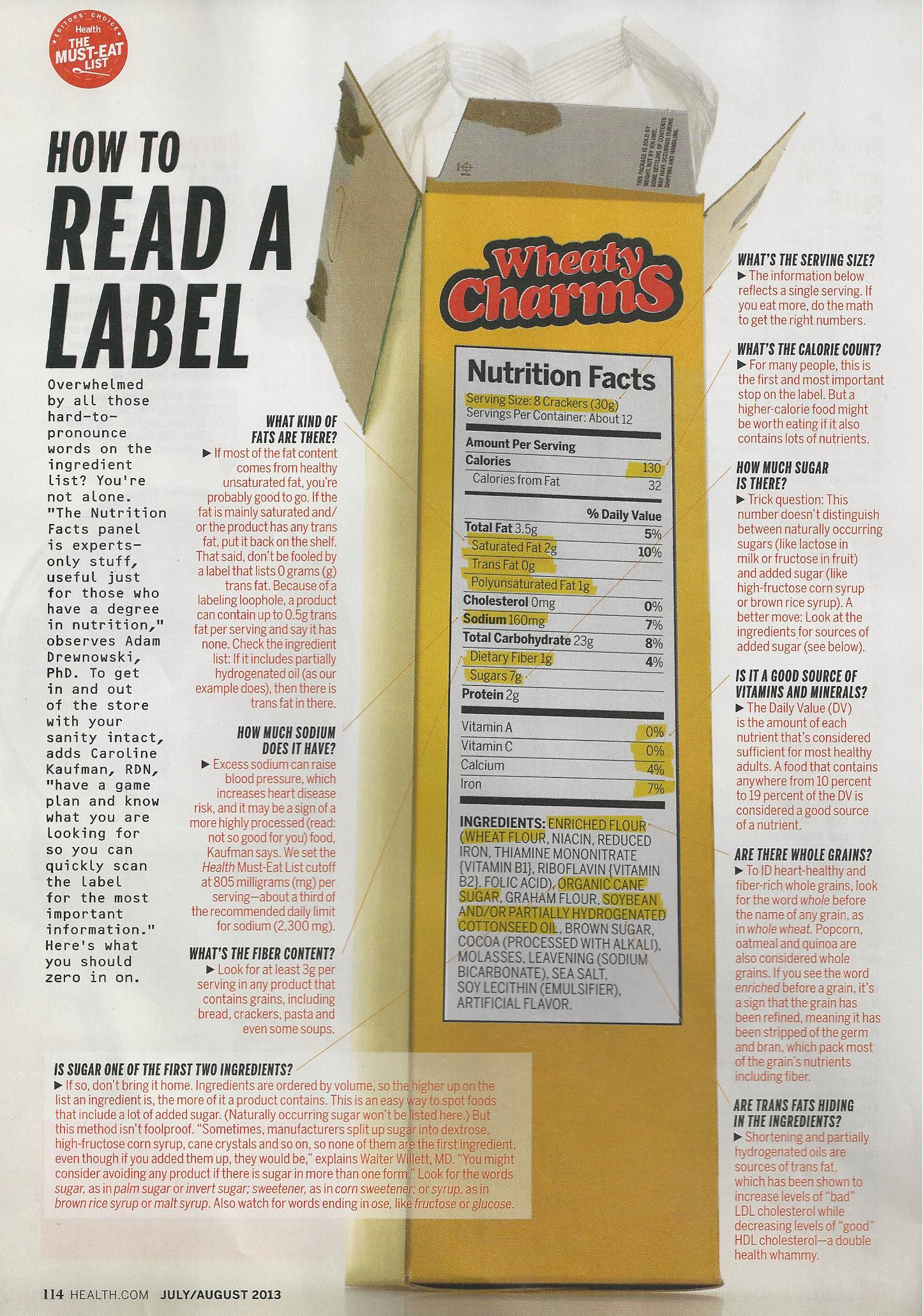 how to read fat content on labels