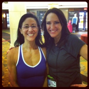 MizFit and moi at Fitbloggin 2012