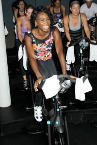 One fly chick at Flywheel!