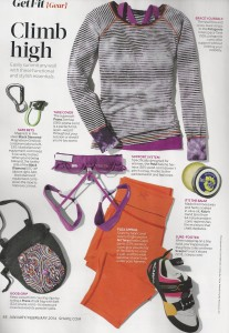 Climbing Gear in Shape magazine 001