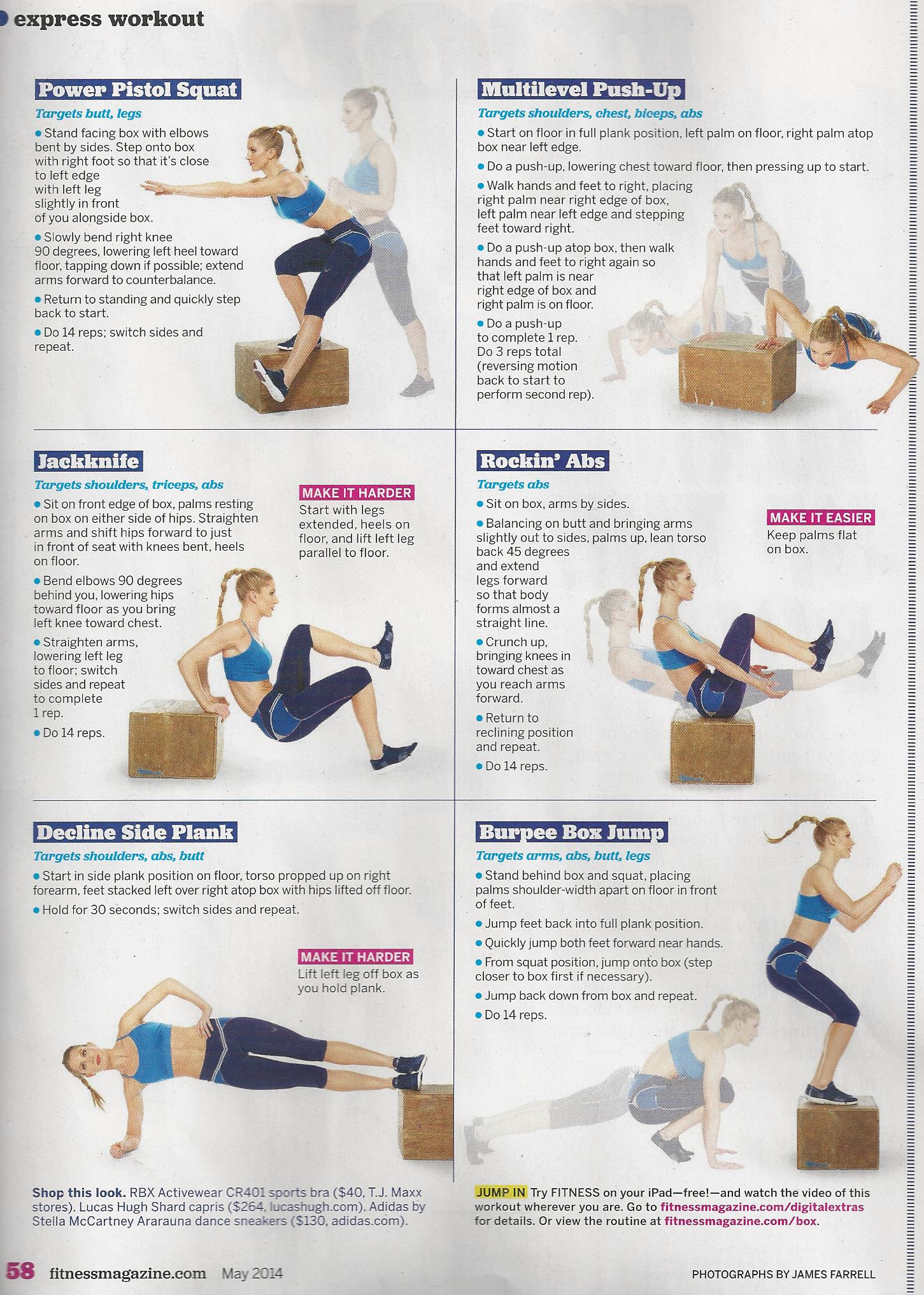 Fitness Magazine Archives Brooklyn Fit Chick On Pinterest Workout Circuit Workouts And Strength Express 001