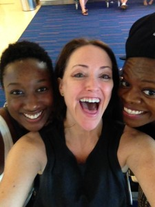 Kimberly, Me and Schnelle at JFK airport